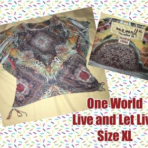 One World Beautiful Colorful Top XL
